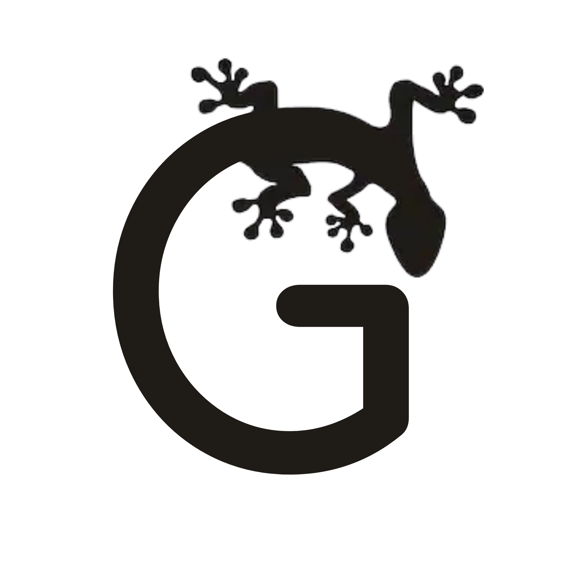 Gecko Edit logo of gecko in the shape of a capital G